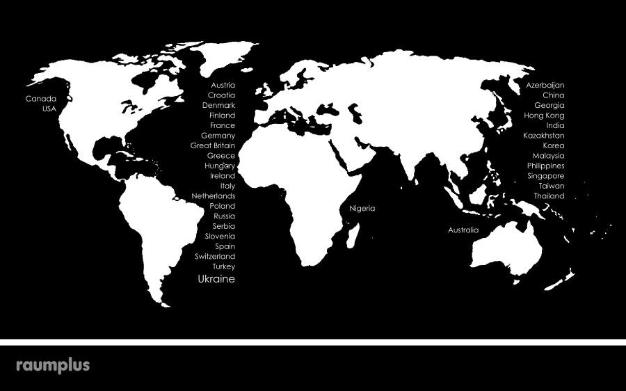 карта світу раумплюс